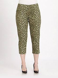 Lafayette 148 New York, Salon Z - Cropped Cheetah-Print Pants