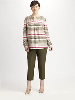 Lafayette 148 New York, Salon Z - Striped Silk Samantha Blouse