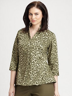 Lafayette 148 New York, Salon Z - Cheetah-Print Marti Blouse