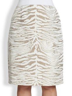 Lafayette 148 New York, Sizes 14-24 - Printed Modern Slim Skirt