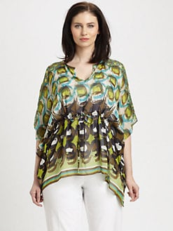 Lafayette 148 New York, Salon Z - Silk Shangri La Galia Top