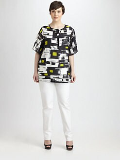 Lafayette 148 New York, Salon Z - Agile Stroke-Print Terri Top
