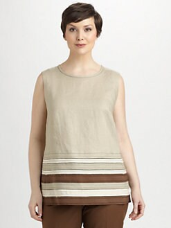 Lafayette 148 New York, Salon Z - Linen Deena Top