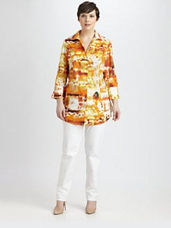Lafayette 148 New York, Salon Z - Watercolor-Print Shirt