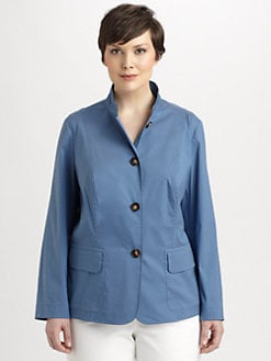 Lafayette 148 New York, Salon Z - Diana Stretch Cotton Jacket