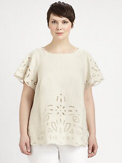 Lafayette 148 New York, Salon Z - Liviana Embellished Top