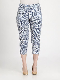 Lafayette 148 New York, Salon Z - Stretch Cotton Cropped Pants