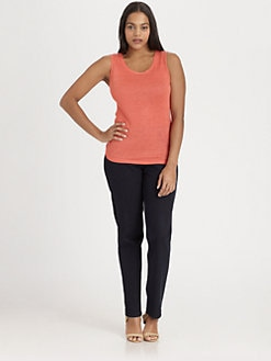 Lafayette 148 New York, Salon Z - Linen Tank Top