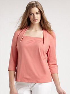 Lafayette 148 New York, Salon Z - Giada Three-Quarter-Sleeve Top