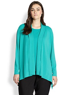 Lafayette 148 New York, Salon Z - Shawl-Collar Peplum Cardigan
