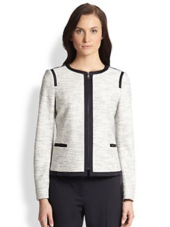 BOSS HUGO BOSS - Koralie Jersey Tweed Jacket