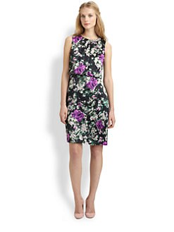 BOSS Black - Silk Rose-Print Dress