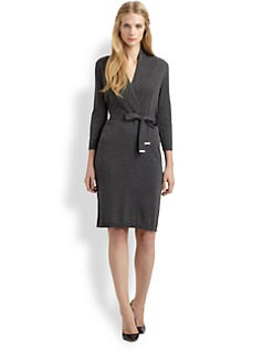 BOSS Black - Belted Knit Dress