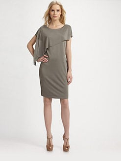 BOSS Black - Drape Front Jersey Dress
