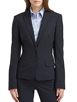 BOSS Black - Button Closure Stretch Jacket