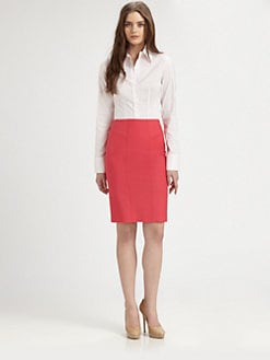 BOSS Black - Wool-Blend Pencil Skirt