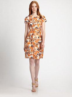 BOSS Black - Floral Silk Shantung Dress