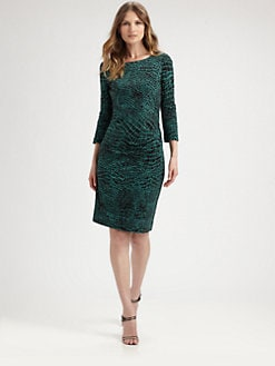 BOSS Black - Eucalyptus-Print Jersey Dress