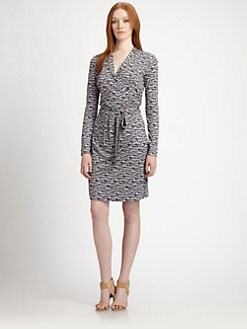 BOSS Black - Printed Jersey Wrap Dress