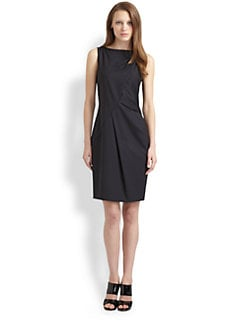 BOSS Black - Stretch Wool Sheath Dress