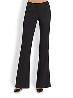 BOSS Black - Bootcut Stretch Wool Pants