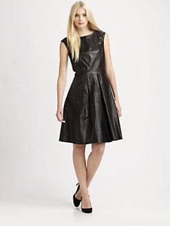BOSS Black - Matte-Leather Dress