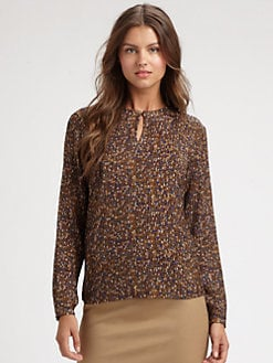 BOSS Black - Printed Silk Blouse