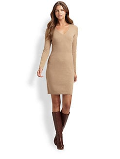 BOSS Black - V-Neck Sweater Dress