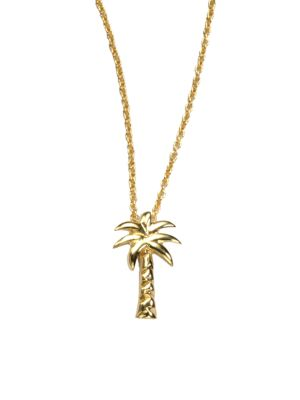 Tiny Treasures 18K Yellow Gold Palm Tree Pendant Necklace