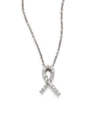 Tiny Treasures Diamond & 18K White Gold Hope Pendant Necklace