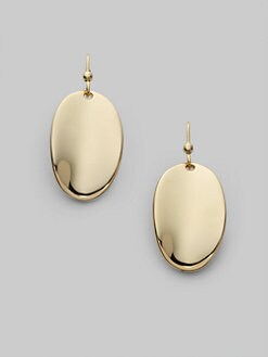 Roberto Coin - 18K Yellow Gold Oval Drop Earrings