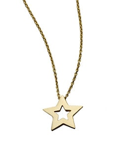 Roberto Coin - 18K Yellow Gold Small Star Necklace