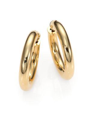 18K Yellow Gold Hoop Earrings/1