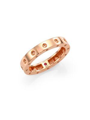 Pois Moi 18K Rose Gold Single-Row Band Ring