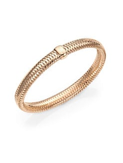 Roberto Coin - 18K Rose Gold Woven Bracelet/Medium