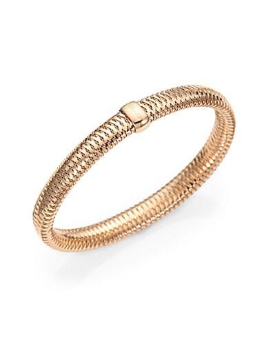 Primavera 18K Rose Gold Medium Woven Bracelet