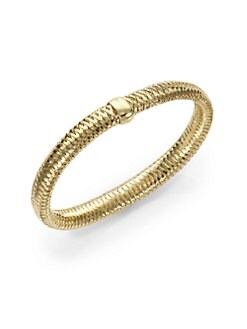 Roberto Coin - 18K Yellow Gold Woven Bracelet/Medium