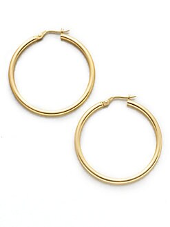 Roberto Coin - 18K Gold Hoop Earrings