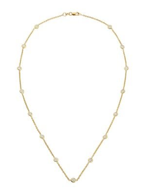 Diamond By The Inch 18K Yellow Gold & Diamond Station Necklace