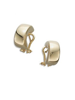 Roberto Coin - 18K Gold Huggie Earrings