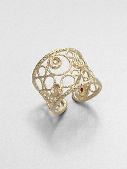Roberto Coin - Diamond & 18K Gold Ring