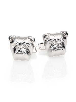 Bull Dog Sterling Silver Cuff Links