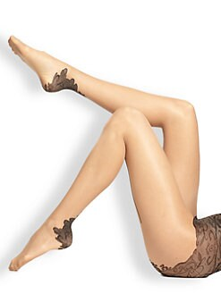 Fogal - Clelia Lace Heel Tights