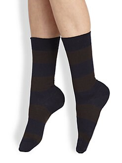 Maria La Rosa - Striped Mid-Calf Socks