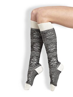 Maria La Rosa - Snowflake Knee-High Socks