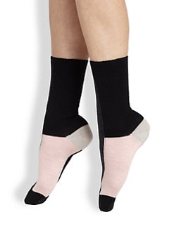 Maria La Rosa - Colorblock Mid-Calf Socks