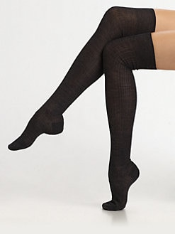 Maria La Rosa - Semi-Sheer Over-The-Knee Socks