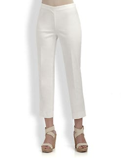 St. John - Stretch Cotton Capri Pants