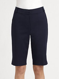 St. John - Stretch Cotton Bermuda Shorts