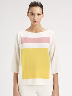 St. John - Colorblock Sweater